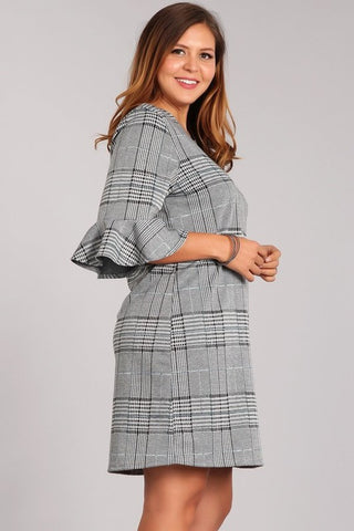 Black and White Plaid Dress - Aunt Lillie Bells