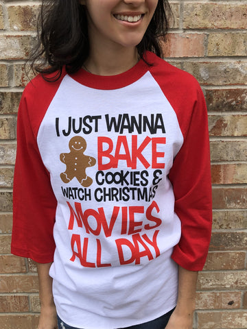 I Just Want to Bake T-Shirt - Aunt Lillie Bells