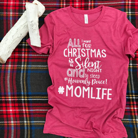 All I Want for Christmas T-Shirt - Aunt Lillie Bells