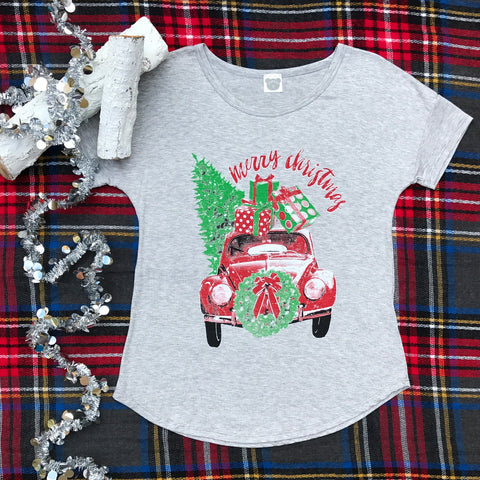Merry Christmas Tee - Aunt Lillie Bells