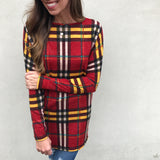Plaid Dolman Sleeve Tunic Top - Aunt Lillie Bells