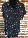 Navy Cactus Shirt - Aunt Lillie Bells