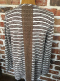 Mocha Striped Wrap Top - Aunt Lillie Bells