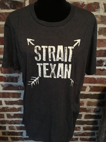 Strait Texan Tshirt in Grey Aunt Lillie Bells