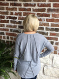 Grey Seam Top - Aunt Lillie Bells