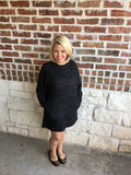 Charcoal Boxy Dress - Aunt Lillie Bells
