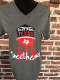 Hometown Texas Sweethearts Tee - Aunt Lillie Bells