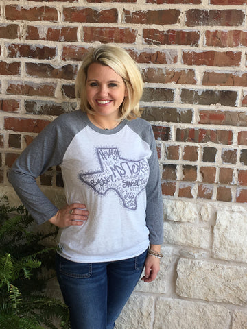 My Texas Baseball T-Shirt - Aunt Lillie Bells