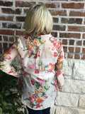 Cream Floral Top - Aunt Lillie Bells