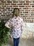 Ivory and Rose Print Top - Aunt Lillie Bells