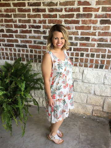 Ivory Flower Sundress - Aunt Lillie Bells