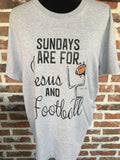Sundays are for Jesus and Football T-Shirt Aunt Lillie Bells