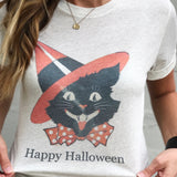 Halloween Cat T-Shirt - Aunt Lillie Bells