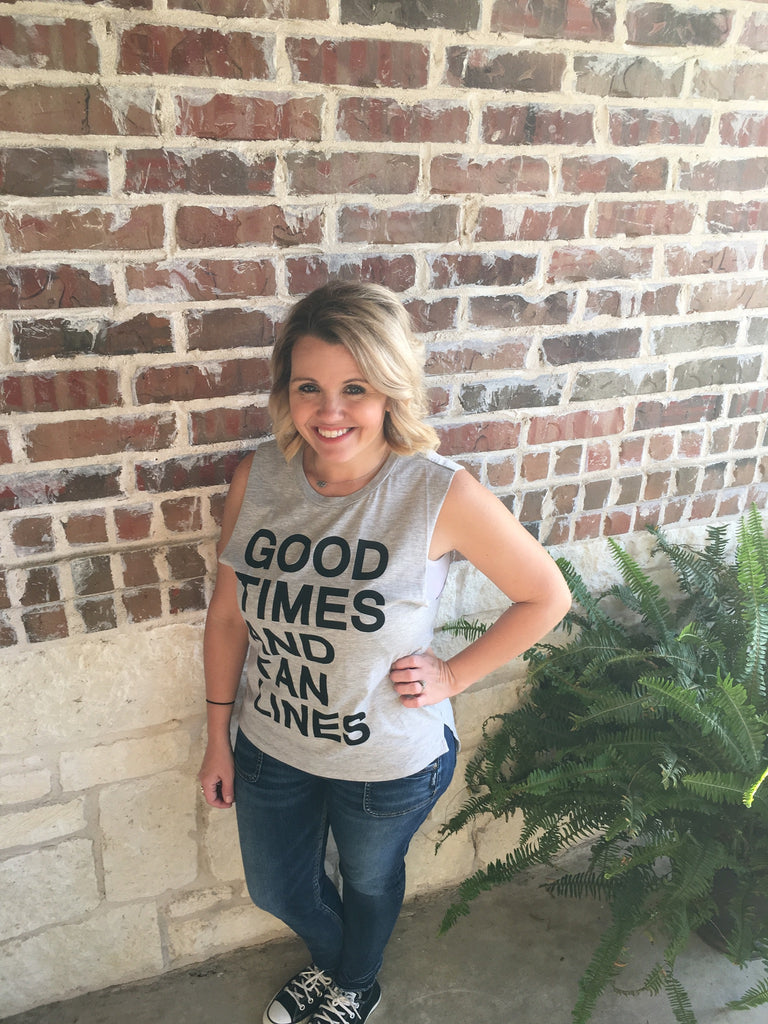 Good Times and Tan Lines Tank - Aunt Lillie Bells