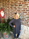 Charcoal Grey Tunic - Aunt Lillie Bells