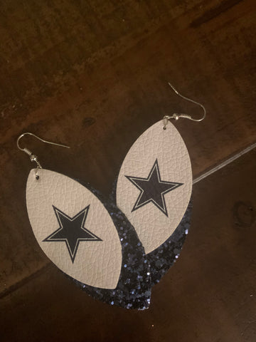 Cowboy Leather Earrings