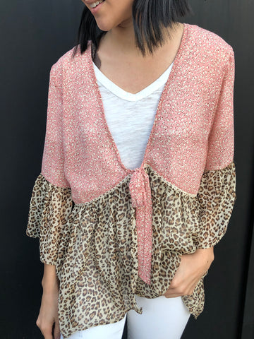 Rose Leopard Cardigan