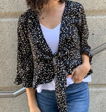 Black and White Dot Cardigan