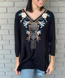 Black and Paisley Blouse