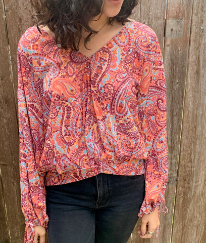 Mauve Paisley Top