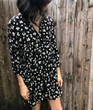 Black and daisy Dress - Aunt Lillie Bells