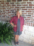 Red And Heather Plaid Shirt - Aunt Lillie Bells