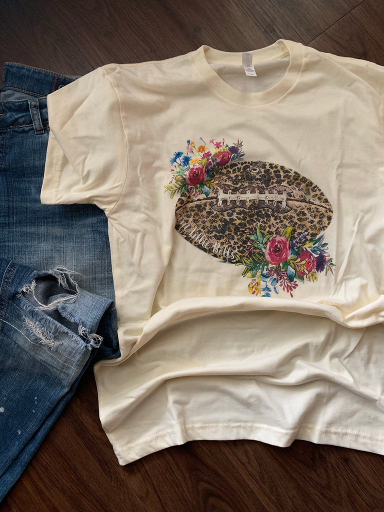 Leopard Football T-Shirt