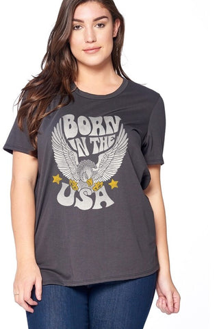 Plus Born in the USA T-Shirt