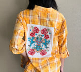Distressed Marigold Blouse