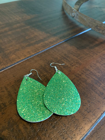 Green St Patrick's Day Earrings