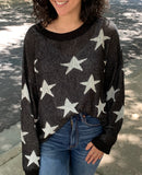 Black and White Star Top