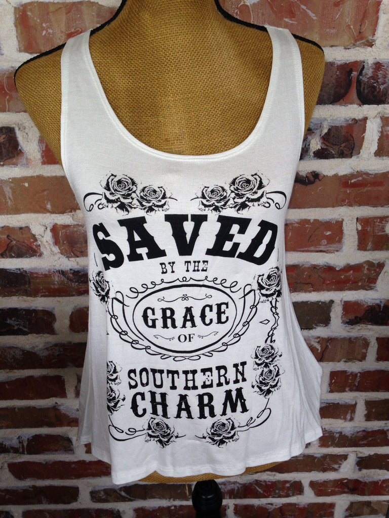 Saved By The Grace Of Southern Charm Tank - Aunt Lillie Bells