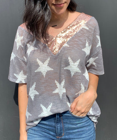 star and sequin top