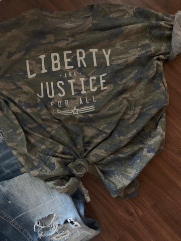 liberty and justice for all tshirt