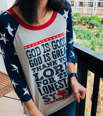 God is good t-shirt - Aunt Lillie Bells