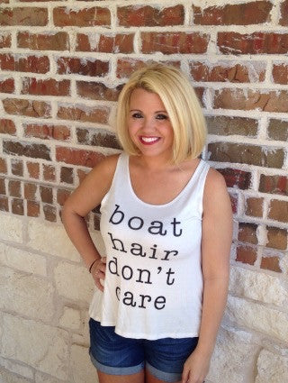 Boat Hair Don't Care Tank - Aunt Lillie Bells