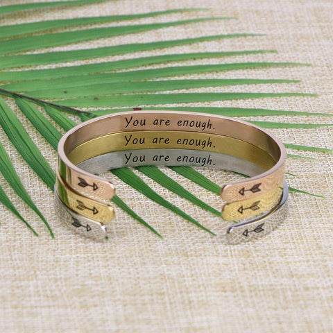 meaningful personalized engraved cuff bracelet