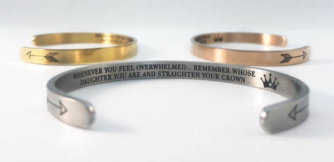 Straighten Your Crown in silver, gold, and rose gold.