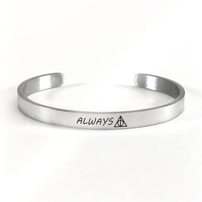 Always bracelet with silver plating