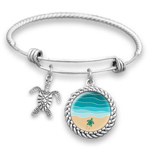 Baby Turtle Almost There Charm Bracelet