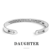 Remember whose daughter you are and straighten your crown bracelet with silver plating