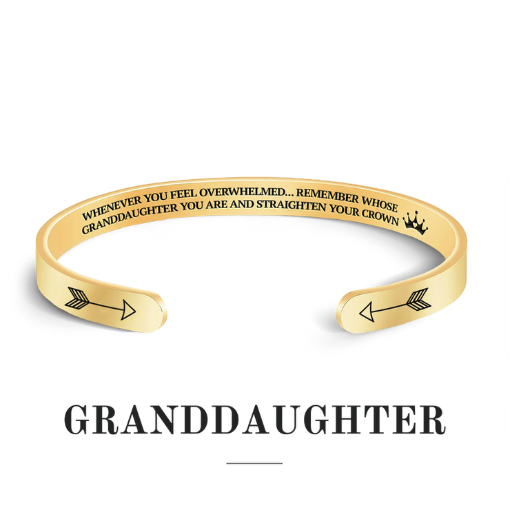 Remember whose granddaughter you are and straighten your crown bracelet with gold plating