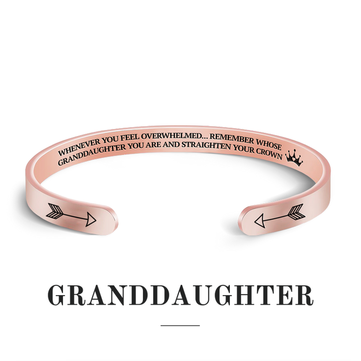 Remember whose granddaughter you are and straighten your crown bracelet with rose gold plating