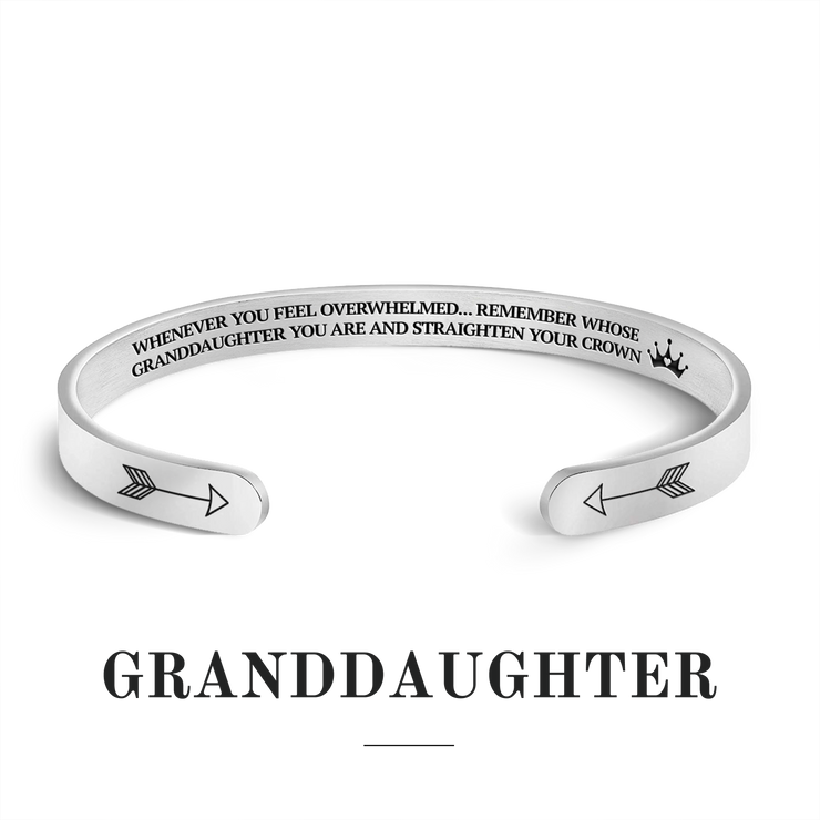 Remember whose granddaughter you are and straighten your crown bracelet with silver plating