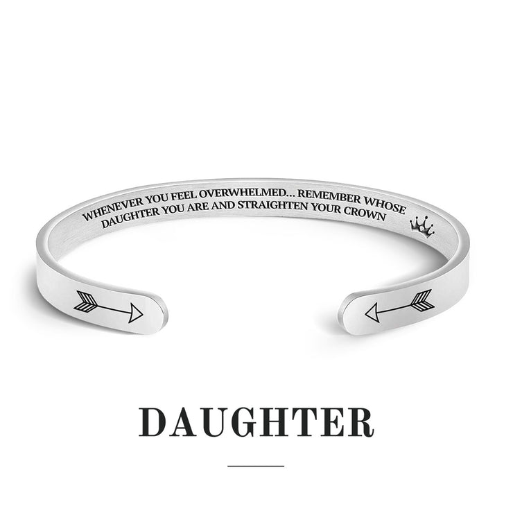 Remember Who You Are and Straighten Your Crown Cuff Bracelet