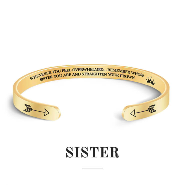 Remember whose sister you are and straighten your crown bracelet with gold plating