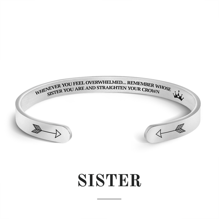 Remember whose sister you are and straighten your crown bracelet with silver plating