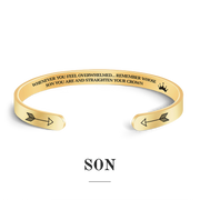 Remember whose son you are and straighten your crown bracelet with gold plating