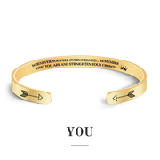 Remember who you are and straighten your crown bracelet with gold plating