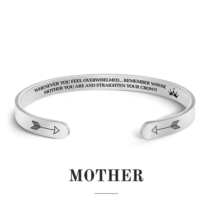 Remember whose mother you are and straighten your crown bracelet with silver plating